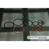 Cloud one - Full set of o'rings in nitrile and silicone plus spare screws (for V1 - v2)